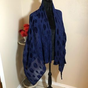 Issey Miyake Pleated & Burn-out Short Sheer Kimono